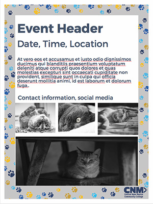 Flyer Template 2: Animal Print