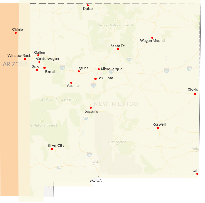 Tax Help New Mexico Sites Map