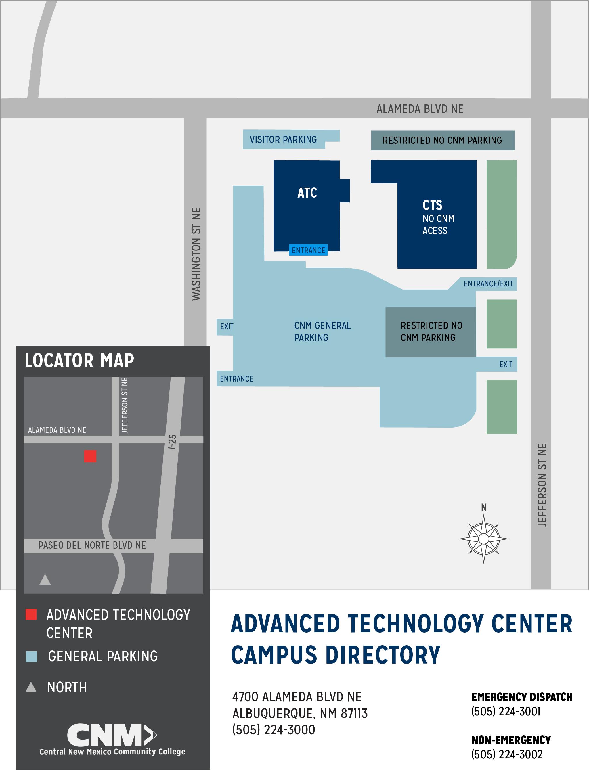 cnm rio rancho campus map Advanced Technology Center Map Cnm cnm rio rancho campus map