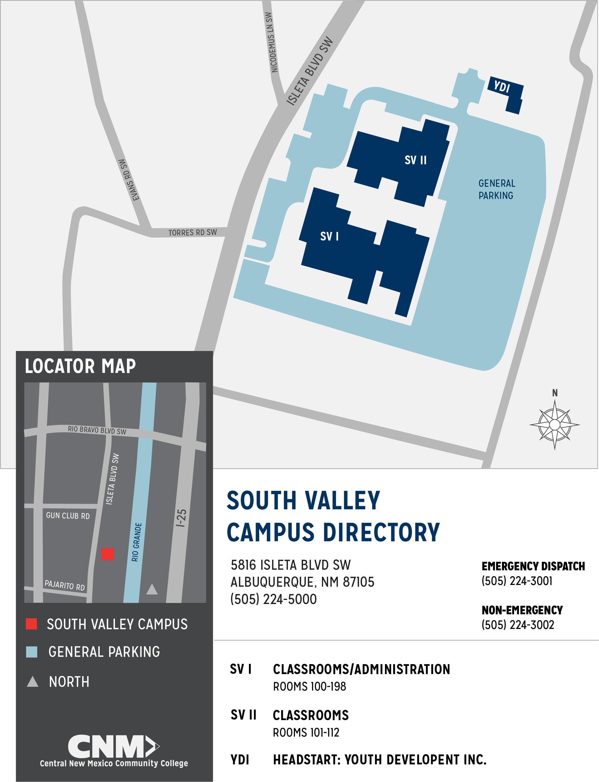 cnm rio rancho campus map South Valley Campus Map Cnm cnm rio rancho campus map