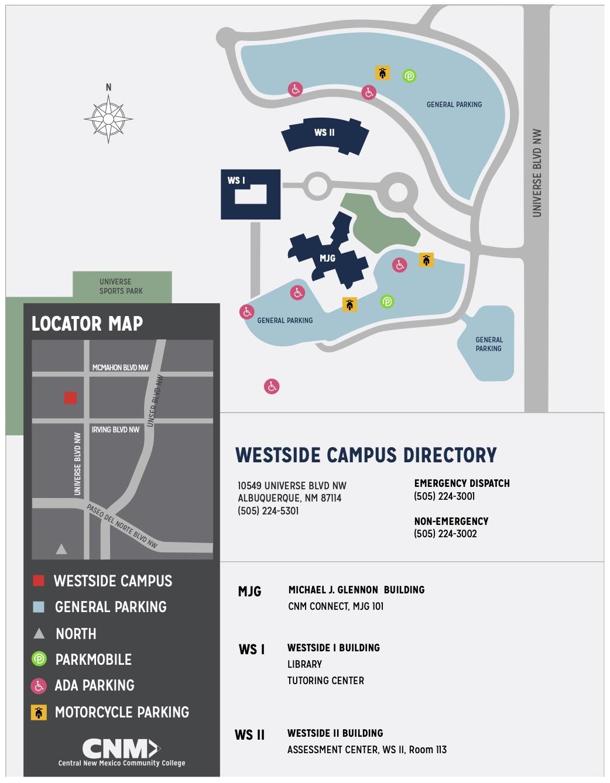 Westside Campus Map | CNM
