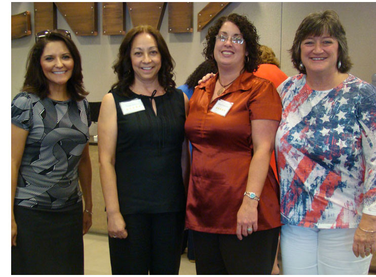 caption:Debbie Costales, Elaine Sanchez, Stacey Seagraves, Donna Diller