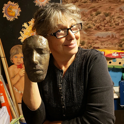 Linda Smock with mask