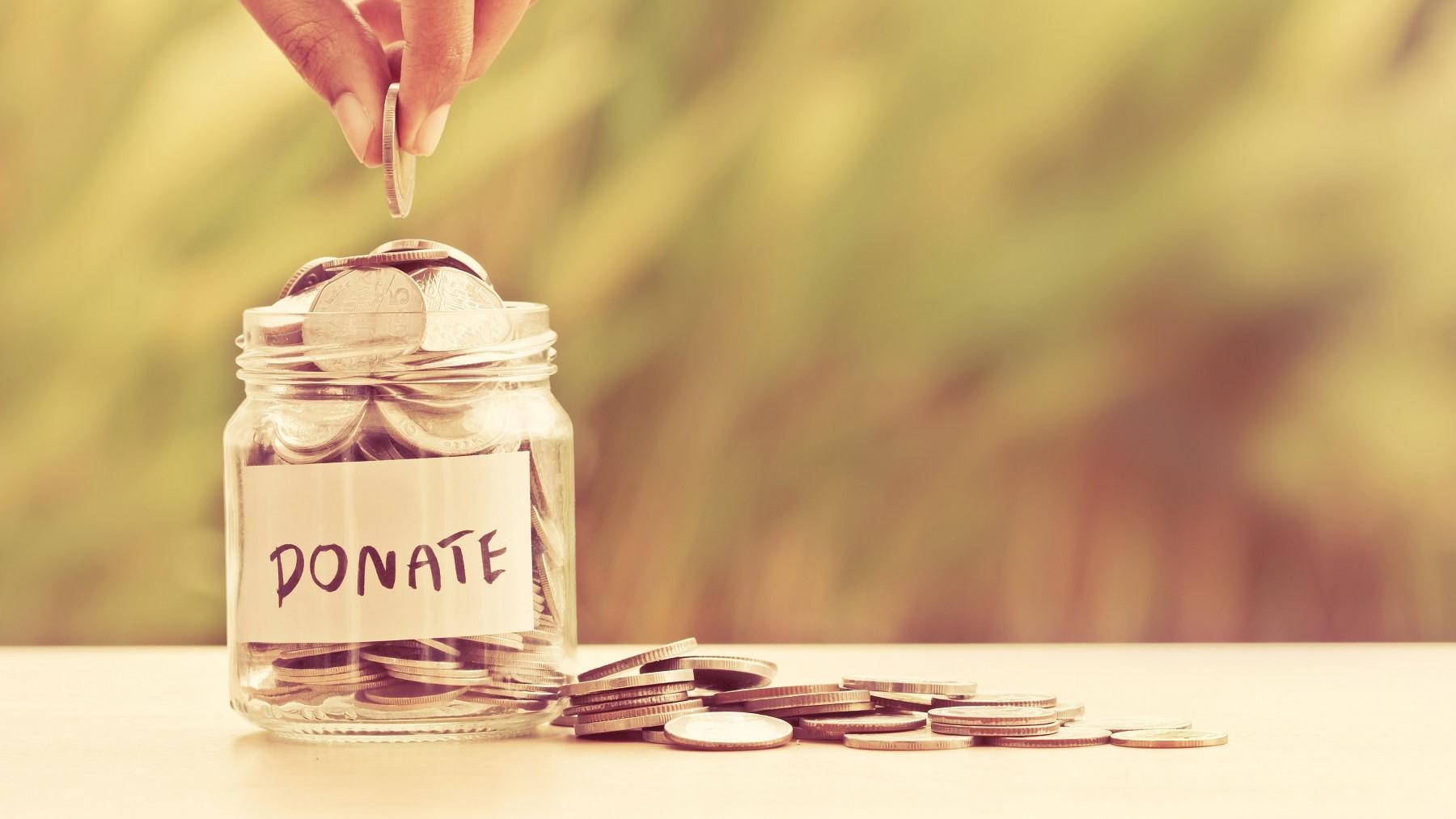 photo of donation jar